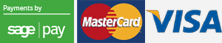 Credit Card Payment options mastercard and visa