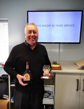 Image of Dave Knight 30 Years service